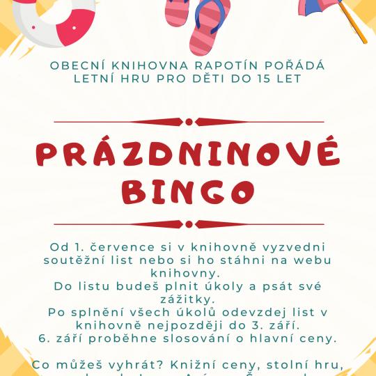 Prázdninové bingo  1